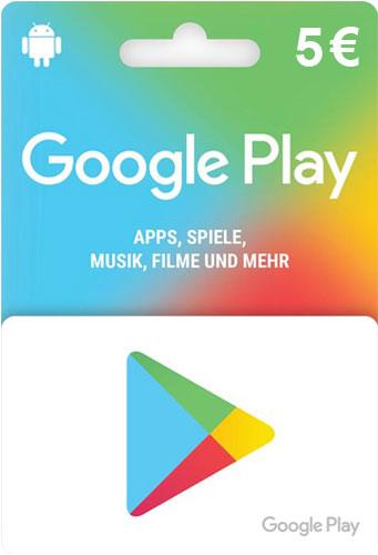 Google Play Card 5 Euro Guthaben Code online kaufen