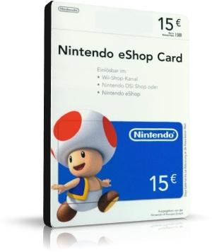 eshop card 15 euros