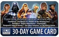 SOE Game Card, Sony Station Pass 30 Tage