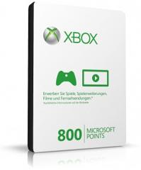 800 Microsoft Xbox Live Points (Code Download)
