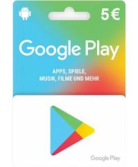 Google Play Card 5 Euro Guthaben