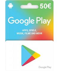 Google Play Card 50 Euro Guthaben