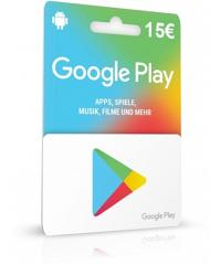 Google Play Card 15 Euro Guthaben